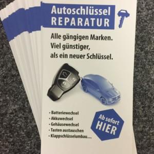 Flyer Autoschlüssel-Reparatur