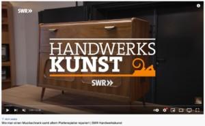 Wie man einen Musikschrank samt altem Plattenspieler repariert   SWR Handwerkskunst